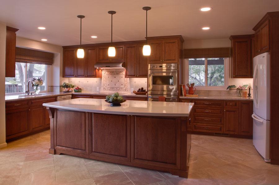 Kitchen Flooring   Case Design/Remodeling of San Jose