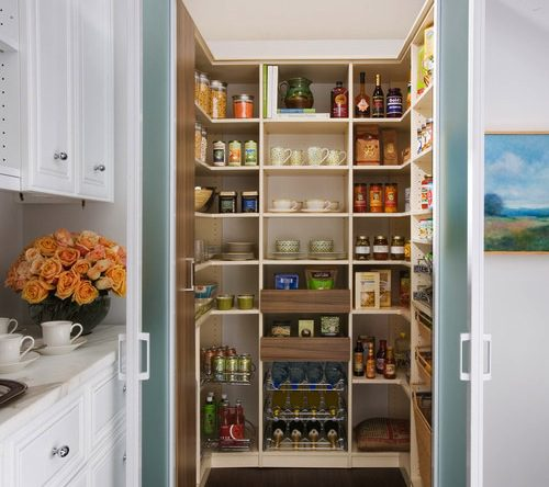 Effective Pantry Shelving Designs For Well Organized: Kitchen Pantry Design Ideas