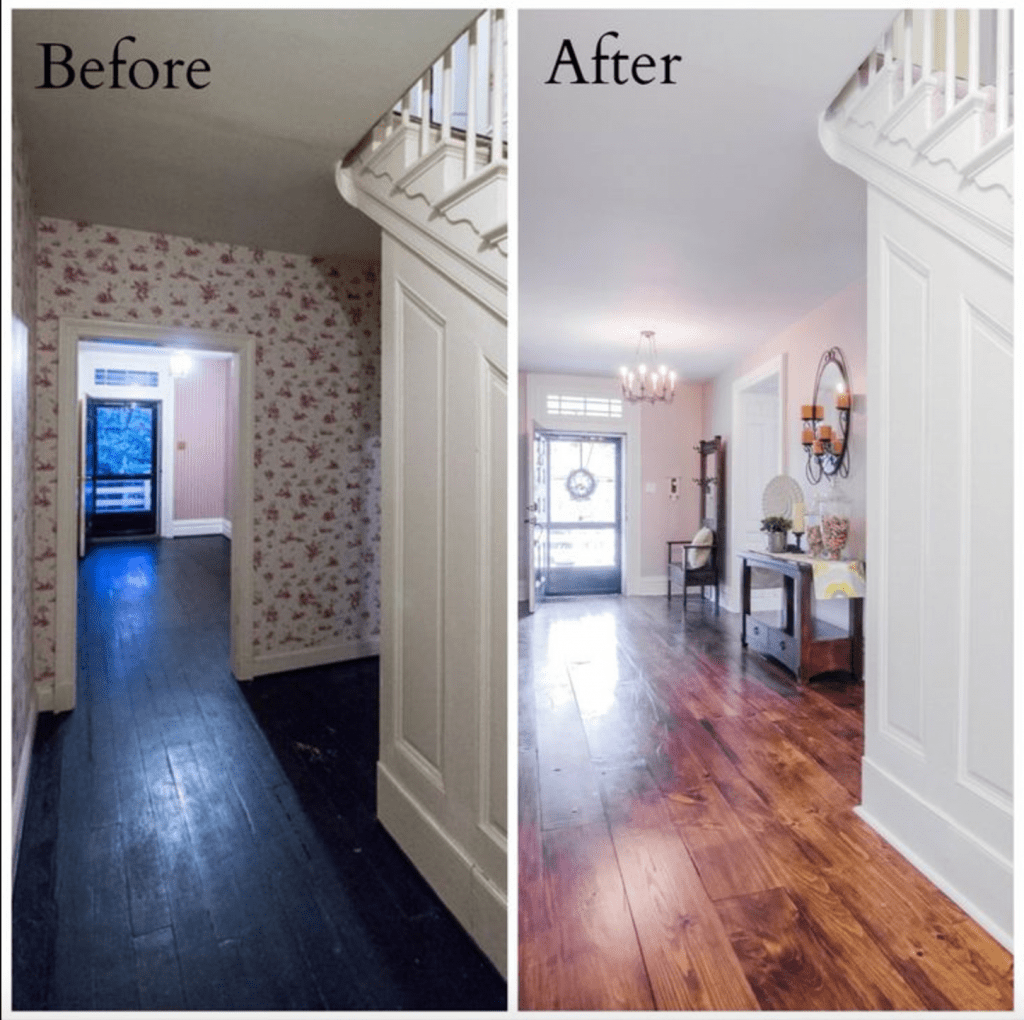 Old homes before and after case san jose Before and after interior design projects